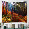 Forest Pattern Tapestry Home Decoration - MULTI-A