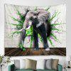 Creative Grey Elephant Tapestry Home Decoration - GRAY GOOSE