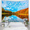 Sky Sea Water Landscape Tapestry Home Decoration - DEEP SKY BLUE