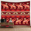 Simple Elephant Pattern Tapestry Home Decoration - RED