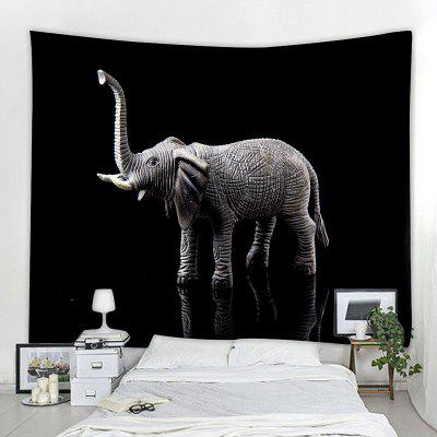 Home Decoration Black Elephant Pattern Tapestry