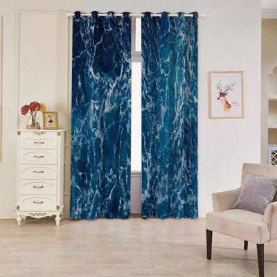 Wave Ripple Style Curtain Set