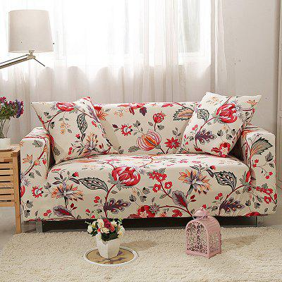 4018737 Fashion Safflower Printed Sofa Cover