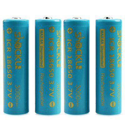 Shockli ICR 18650 Batterie Li-ion Rechargeable de 3,7V