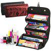 Large Capacity Roll Cosmetic Storage Bag for Travel - CHESTNUT RED