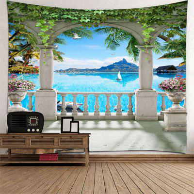 Beautiful 3D Sea View Tapestry Home Decoration