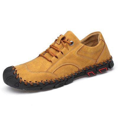 AILADUN Men's Outdoor Handmade Round Toe Casual Shoes Lace-up