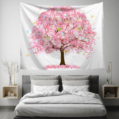 Peach Blossom 3D Digital Printing Tapestry Creative Home Art Wall Decoration