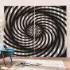 Illusion 3D Abstract Curtain 2PCS - MULTI-A