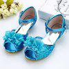 MRLOTUSNEE 502 - 3 Girls High Heel Bow Fish Mouth Sweet Shoes - SILK BLUE