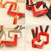 Positioning Right Angle Clamp Woodworking Carpenter Tool - RED