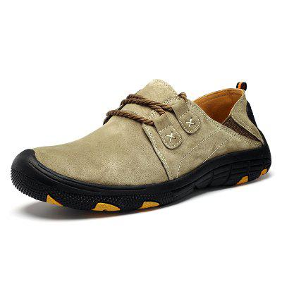 AILADUN Men's Outdoor Full Grain Leather Casual Shoes Large Size