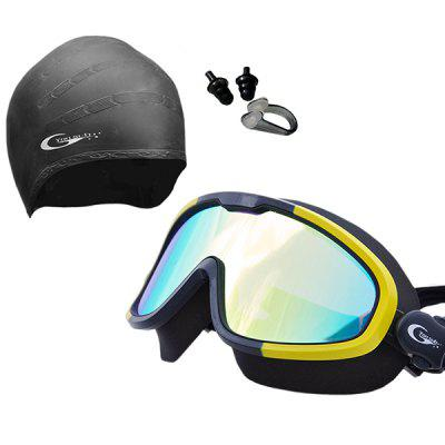 Yonsub YG1088 + YC01 + YE01 HD Anti-fog Waterproof Goggles + Swimming Cap + Earplugs + Nasal Plug Suit