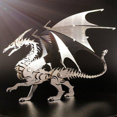 3D Metal Flying Dragon DIY Puzzle modelo adornos creativos