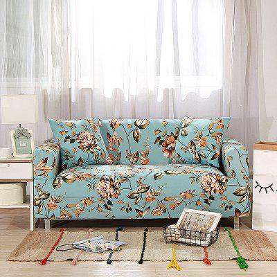 4018773 Golden Flower Printed Sofa Cover