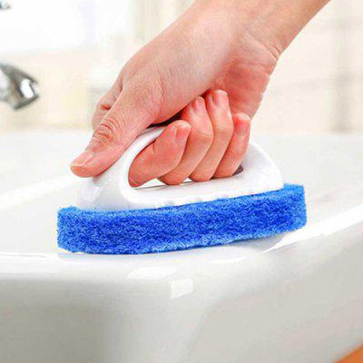 Oval Sponge Cleaning Brush with Handle