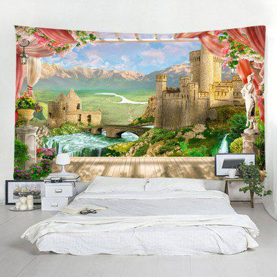 Window Castle Home Decor Tapestry