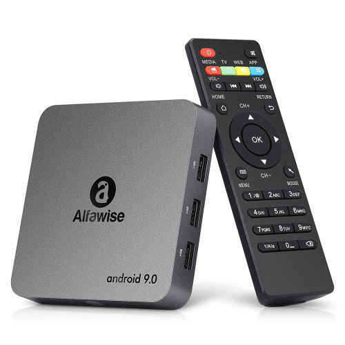 Alfawise A8 NEO TV Box Android 90 - Black EU Plug