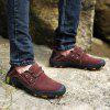 AILADUN Men's Outdoor Full Grain Leather Casual Shoes Large Size - RED WINE