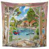 3D Lake Home Decoration Tapestry - MEDIUM TURQUOISE