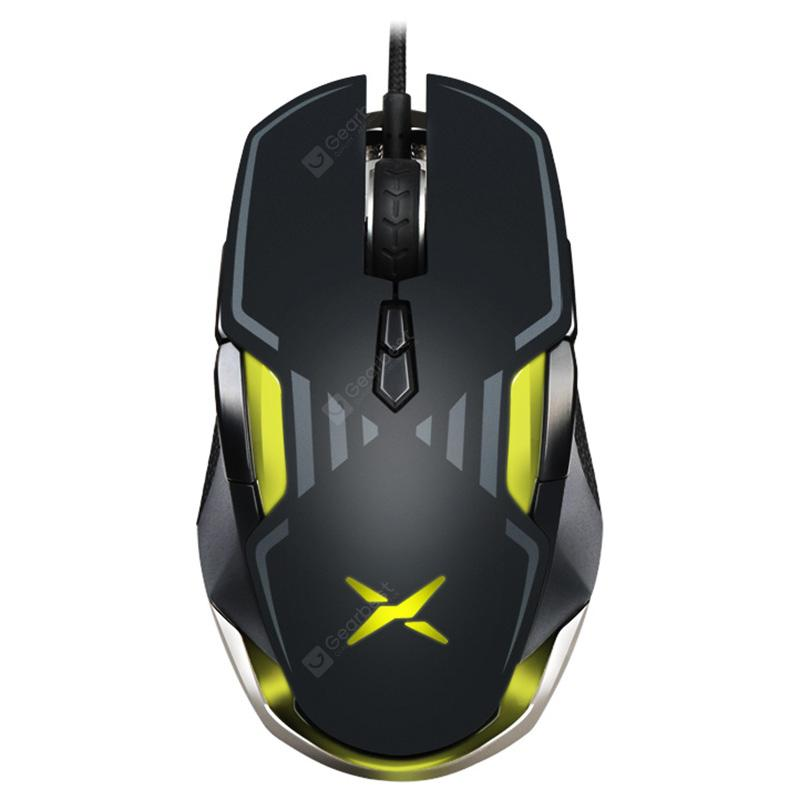 Delux M628 Wired E-Sport Gaming Mouse Maximum 16000DPIBlack 3389 engine