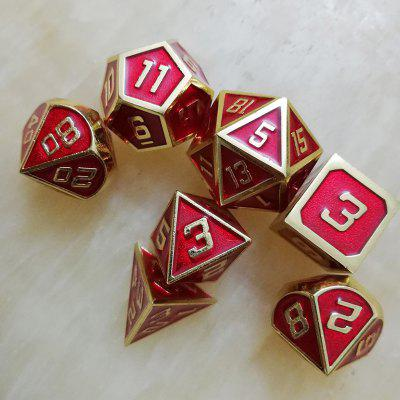 Red Metal Solid Dice 7st