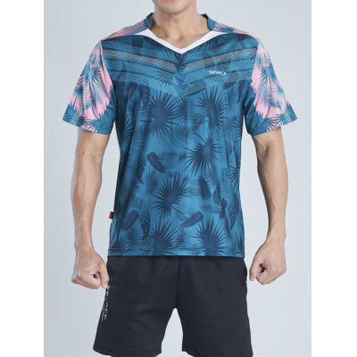 Men's Breathable Short-sleeved Sports T-shirt Quick-drying Printing