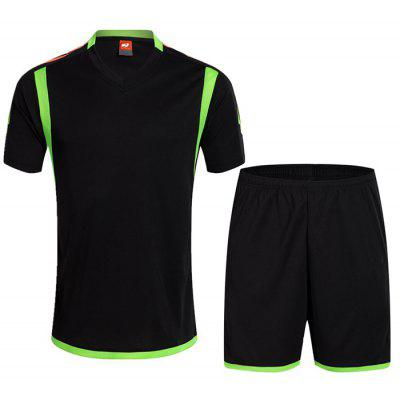 Men's Sports Short-sleeved T-shirt Suit Breathable And Quick-drying