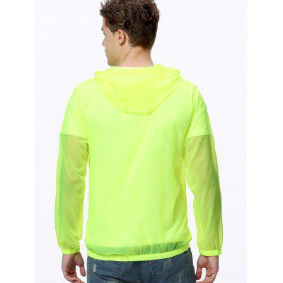 Men's Summer Hooded Sunscreen Clothing Breathable Solid Color
