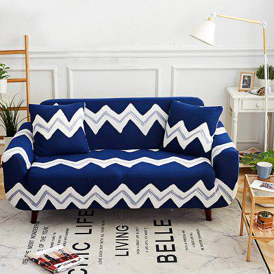 Wave stiksels bedrukte Sofa Cover