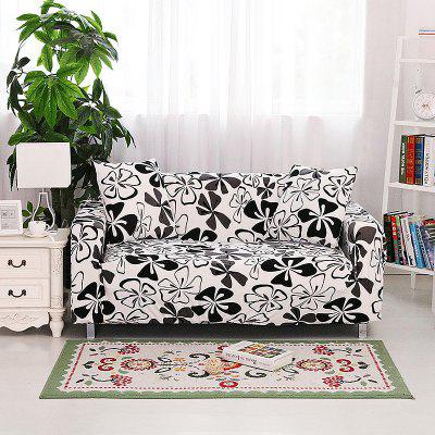 Black Butterfly Print Sofa Cover