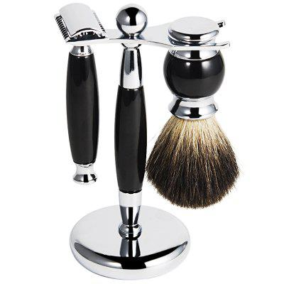 Shaving Brush Soap Dish Razor Set