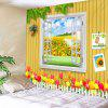 3D Wall Sunflower Decorative Tapestry - GOLDENROD