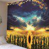 Home Decoration Gorgeous Evening Sun Flower Tapestry - BRIGHT YELLOW