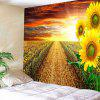 Evening Sunflower Home Decoration Tapestry - BRIGHT YELLOW