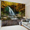 3D Forest Waterfall Landscape Curtain - MULTI-A