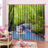 Home Fashion 3D Waterfall Curtain - LAWN GREEN