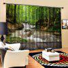 Forest Creek Falls Home Curtain - SEAWEED GREEN