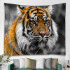 3D Digital Printed Living Room Background Wall Tapestry - BEE YELLOW