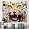 3D Digital Tiger Printing Background Decoration Cloth Wall Tapestry - MULTI