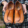 Men's Leather Hand-stitched Casual Shoes - CARAMEL