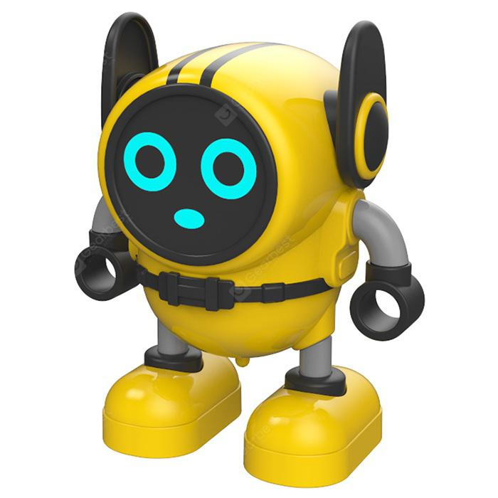 JJRC R7 Gyro Pull Back Robot Children Educational Toy - Yellow