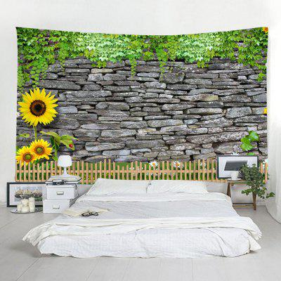 Brick Wall Sunflower Home Decor Tapestry