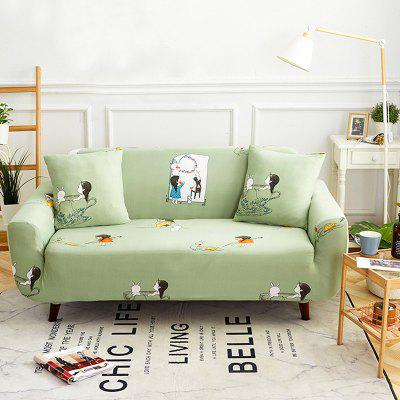 3741483 Little Girl Home Printing Sofa Cover