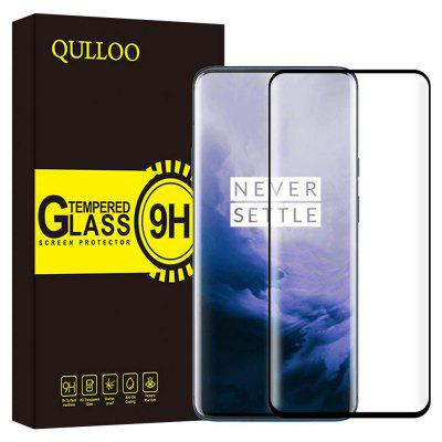 QULLOO 3D 9H Full Tempered Glass Screen Protector for OnePlus 7 Pro