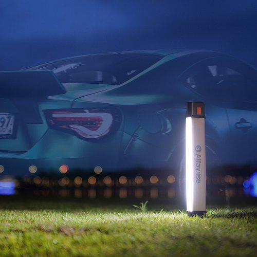Gearbest Alfawise AL - M1 Plus Magnetic LED Camping Lantern Car Flashlight - White AL-M1 Plus Withstand 100kg Pressure / 100000h Lifespan / Blue Red Warning Mode / Outdoor or Home Use