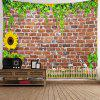 Brick Sunflower Decorative Wall Tapestry - MULTI-A