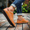 AILADUN Men's Second Floor Cow Skin Casual Shoes Lace-up - BROWN