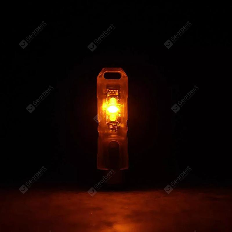 ROVYVON A8 350lm USB Charging EDC Flashlight Transparent UV+Red+White