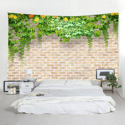 Brick Wall Flowers Home Decor Tapestry